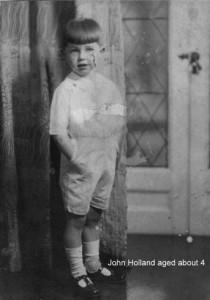 Mrs Wiggett John Ratcliffe Holland aged 4