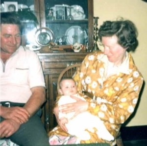 Ray and Betty with grandchild