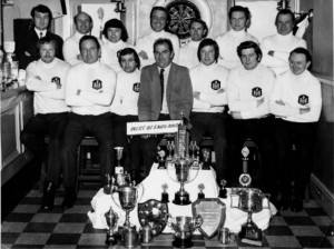 Dave Russell West of England Darts Association front right