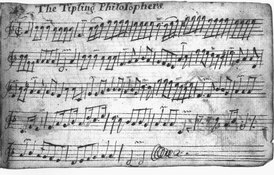 Tipling Philosophers, The, tune from Thurston ms | GlosTrad